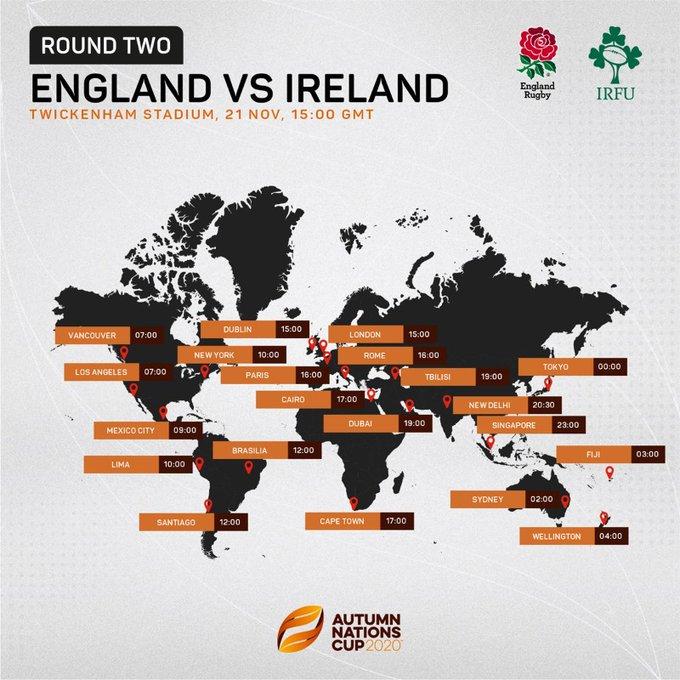 イングランドvsアイルランドのポスター