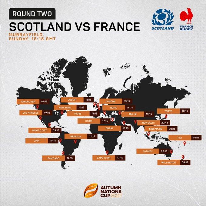 スコットランドvsフランスのポスター