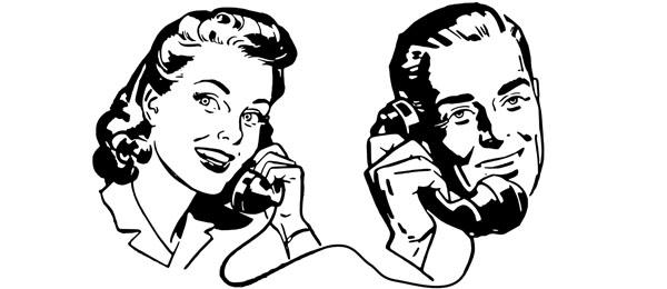 電話で会話する人