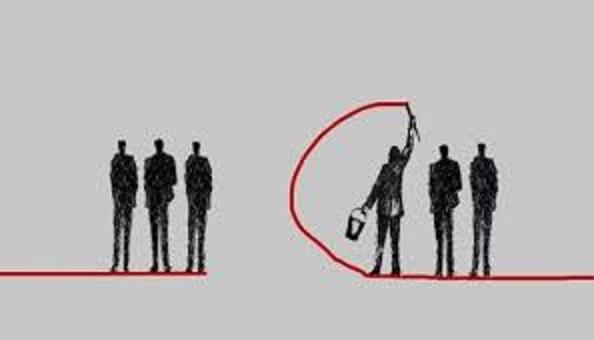 社会が分断している様子