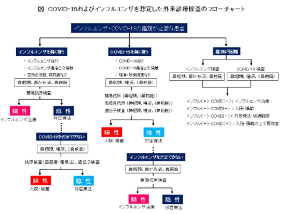 診断と治療についてまとめた図表
