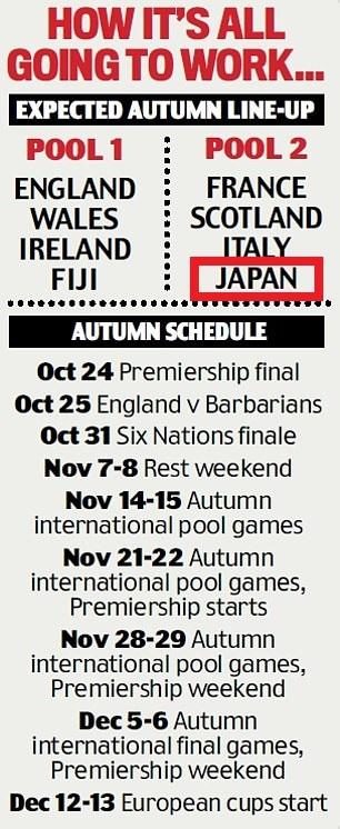 ジャパンの試合日程が書かれたポスター