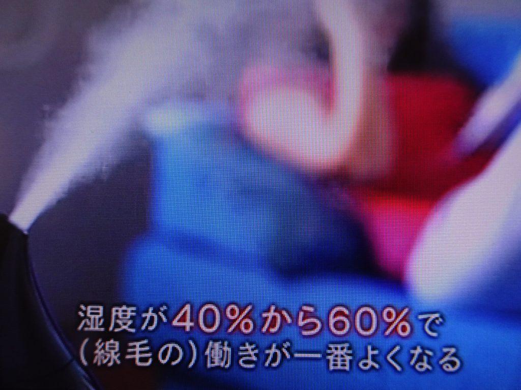 目標湿度は50%であることを示す図