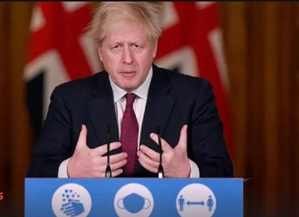 厳しい外出禁止令が発令するイギリスのジョンソン首相