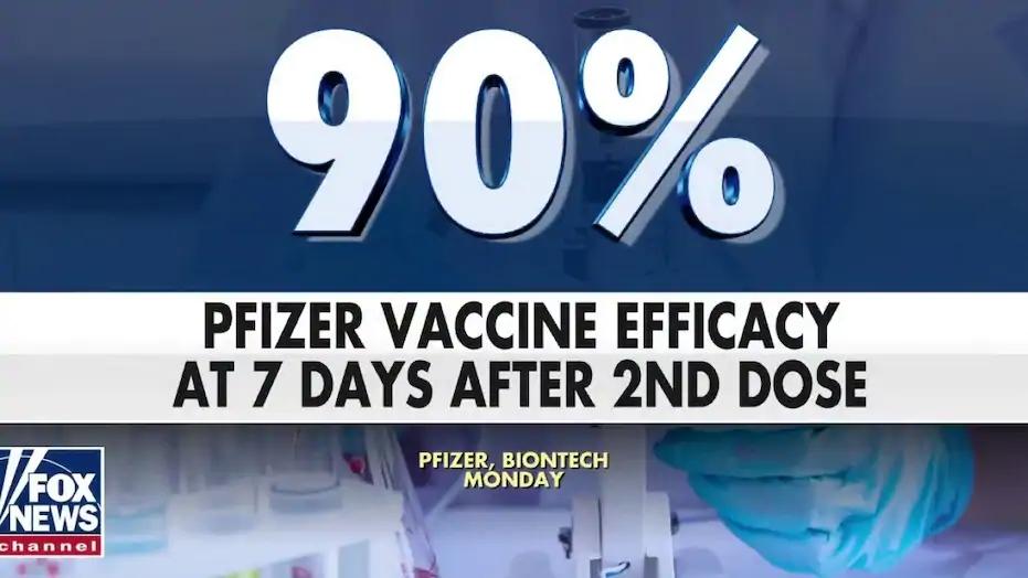 発症予防効果は90%以上であることを伝えるニュース