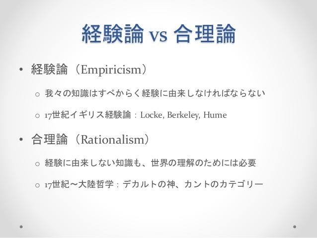 合理主義と経験主義