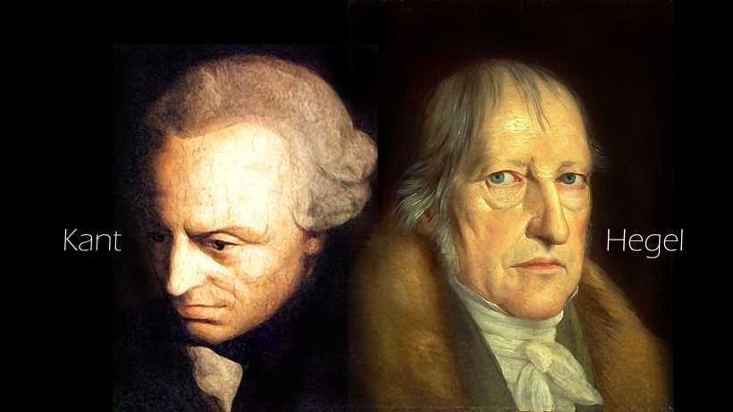 カントとヘーゲルの肖像画