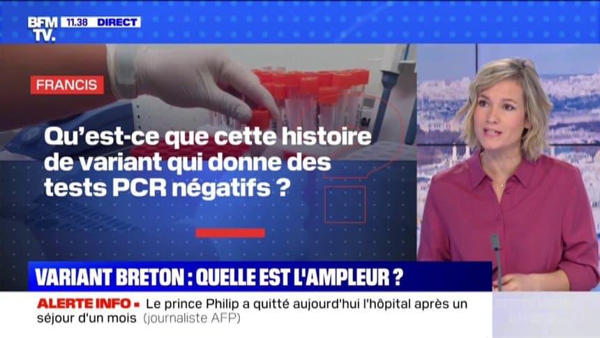 ブルターニュ変異株について報じるフランスのニュース番組