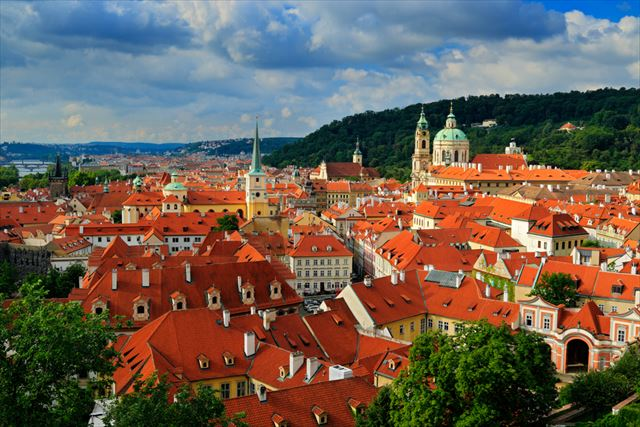 プラハの街並み
