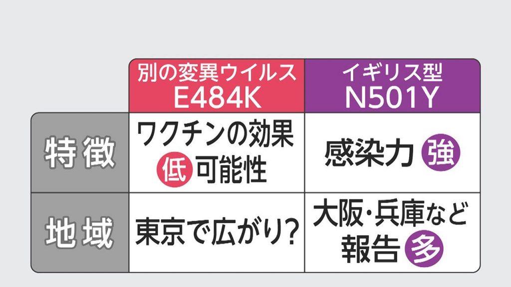 E484K変異株の特徴を説明する図