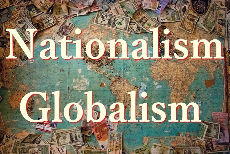 ナショナリズム グローバリズムについて説明する図