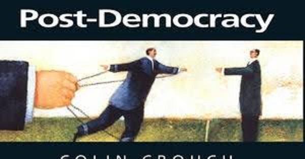 ポスト民主主義は何かを問うポスター