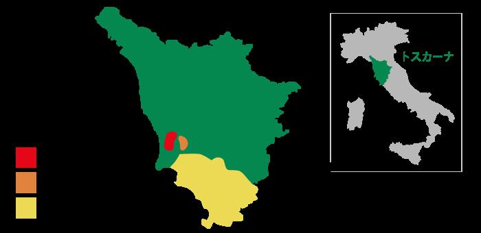 ボルゲリの位置を示す地図