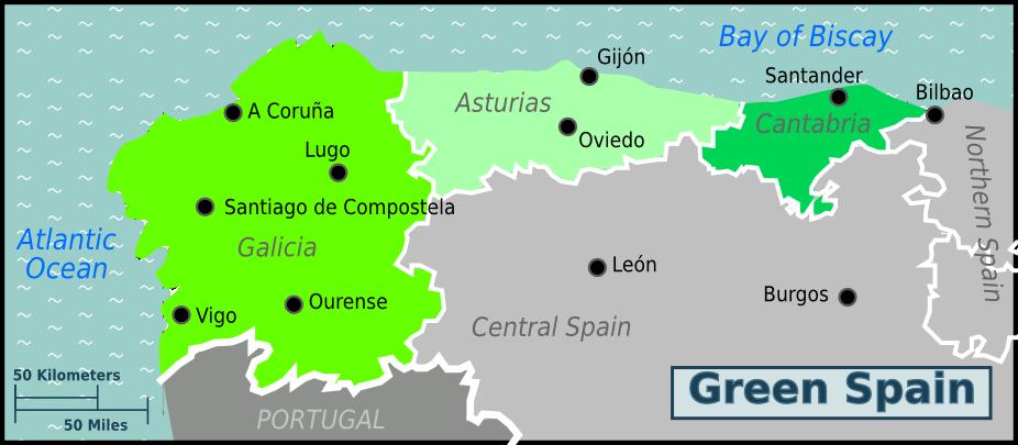 グリーンスペインの位置を示す地図