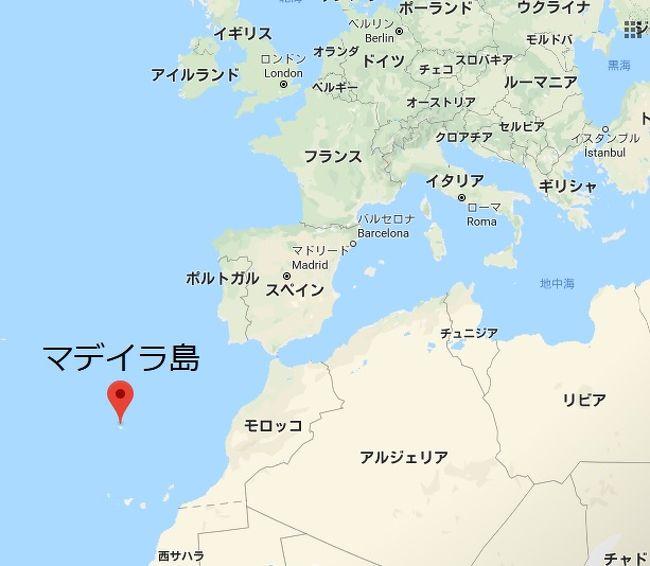 マデイラ島の場所を示す地図