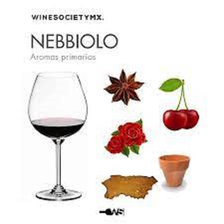 ネッビオーロの香りについて説明した図