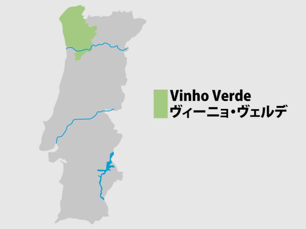 ミーニョ地方の位置を示す地図