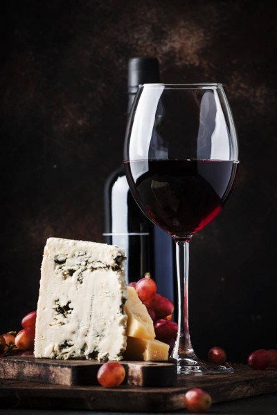 ポートワインとスティルトンチーズ