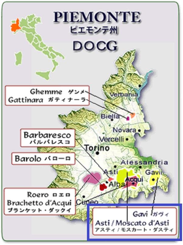 ガヴィが造られる畑の位置を示した地図