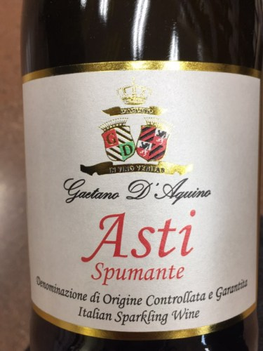 アスティ・スプマンテ のボトル