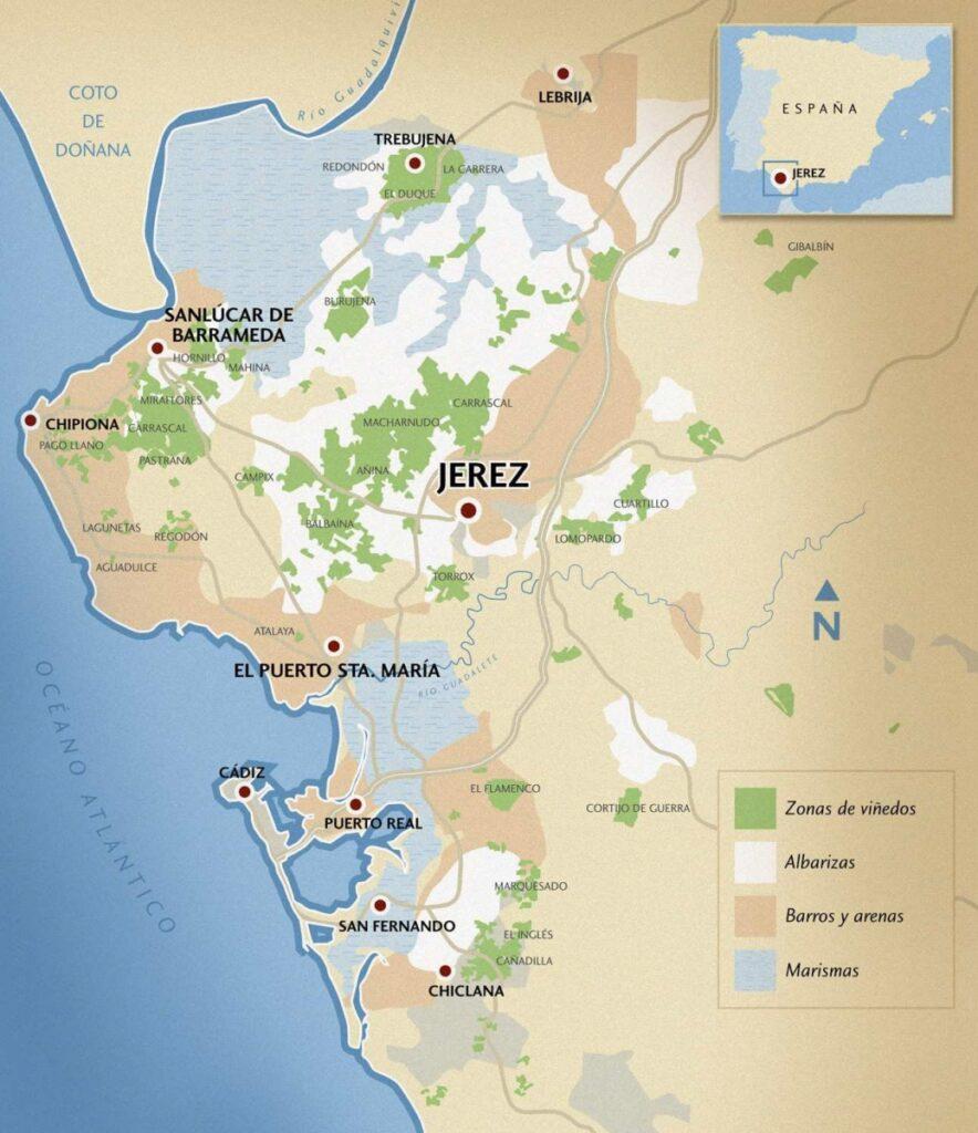 へレス地方の位置を示す地図