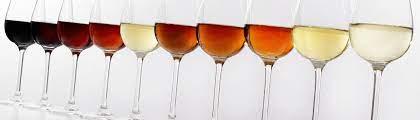 グラスに注がれたさまざまな種類のシェリー