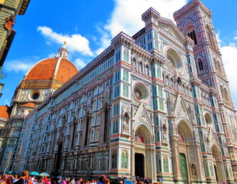 フィレンツェの街中の風景