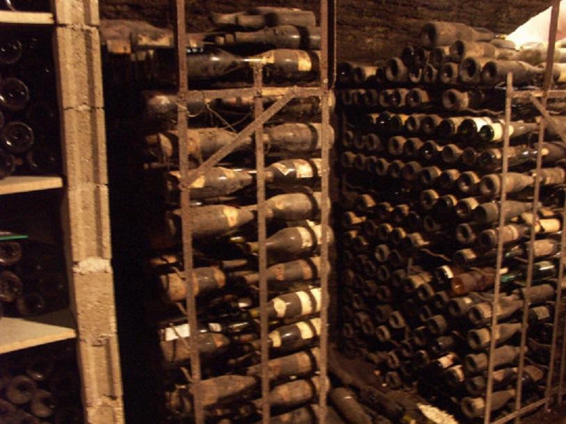 ワインのびん熟成