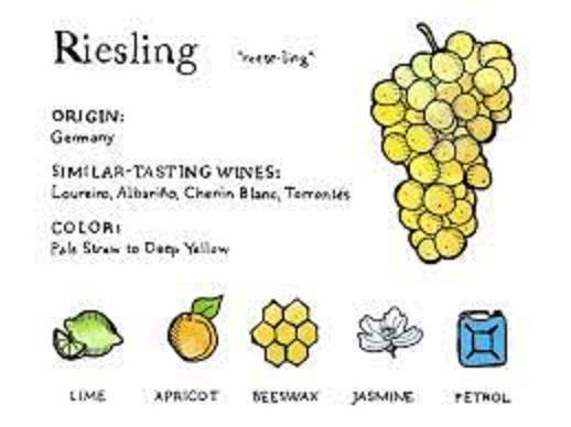 リースリングのアロマをまとめた図表