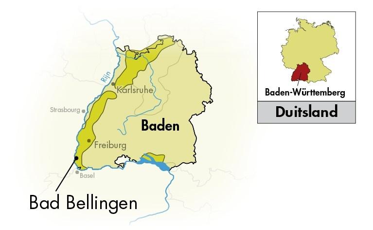 バーデン地方の位置を示す地図
