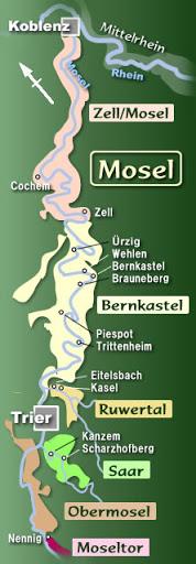 モーゼル地方の位置を示す地図