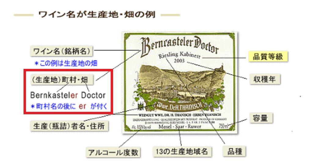 地域指定優良ワインのラベル