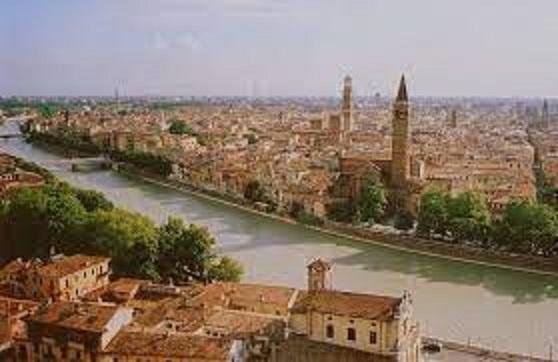 ヴェローナの町の風景
