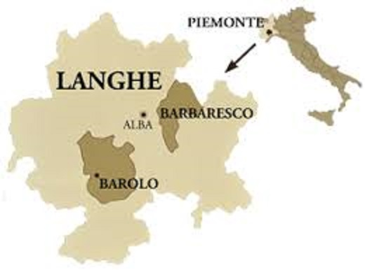 ランゲ地区の地図