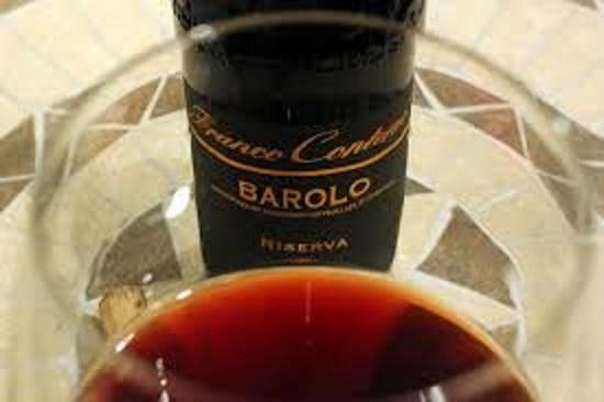 バローロのワインの色合い