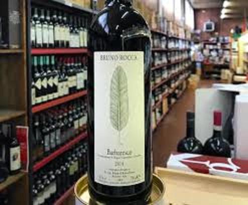 バルバレスコワインのボトル