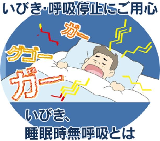 いびき 無呼吸の危険性を指摘する図
