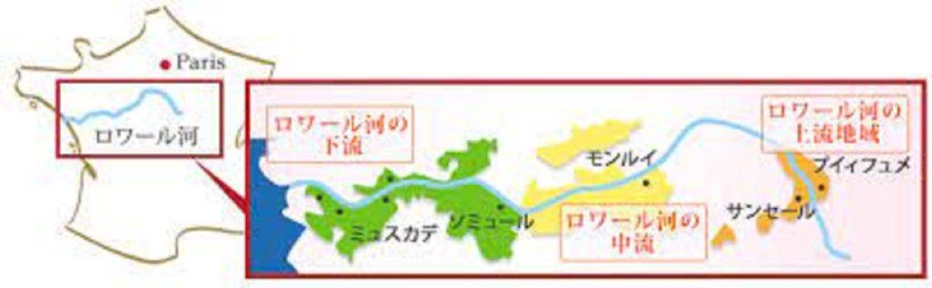 西の地域から東の地域での気候の差異を示す図