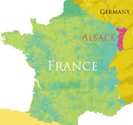 アルザスの位置を示す地図