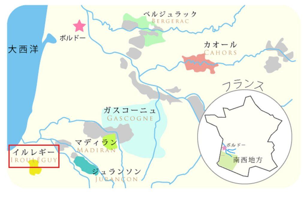 イルレギーの場所を示した地図