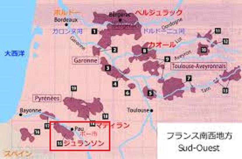 ジュランソンの位置を示す地図